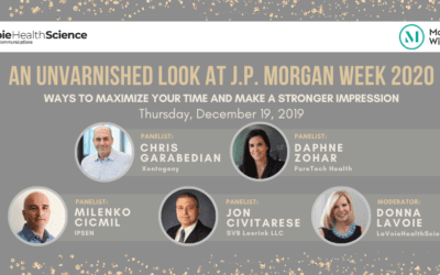 """LaVoieHealthScience Executive Panel Presents """"An Unvarnished Look at J.P. Morgan Week 2020"""""""