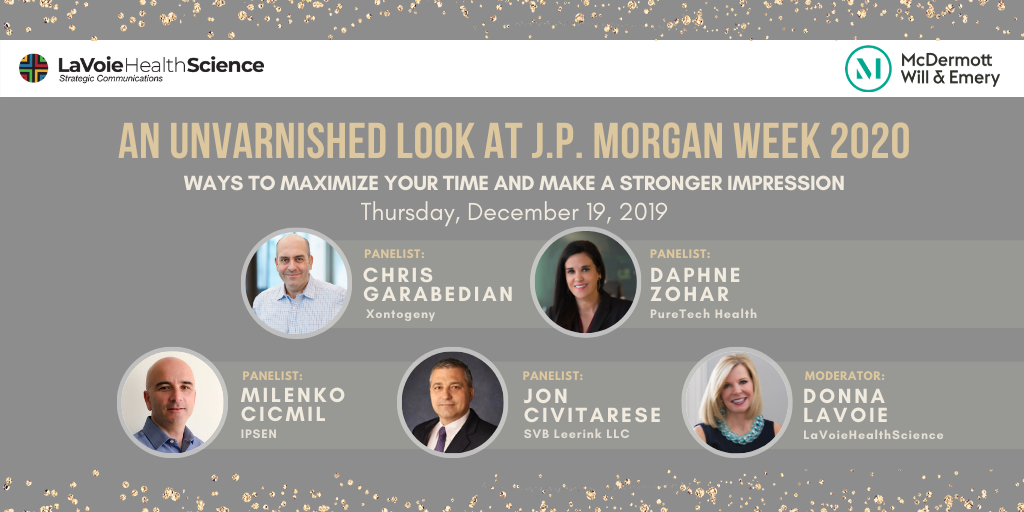"LaVoieHealthScience Executive Panel Presents ""An Unvarnished Look at J.P. Morgan Week 2020"""