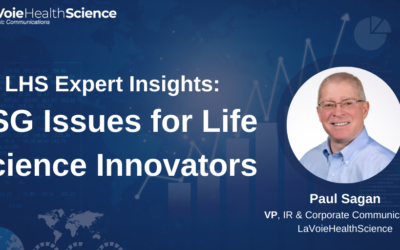 LHS Expert Insights: ESG Issues for Life Science Innovators
